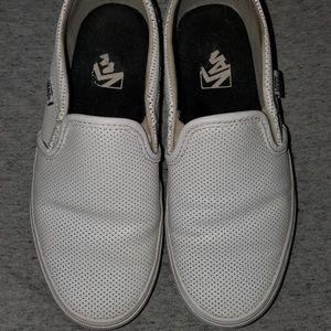 Van's leather slip-on sneakers